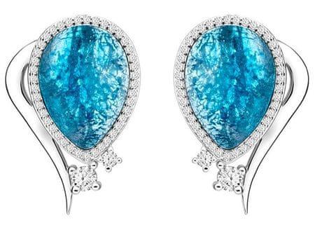 Preciosa Elegancki Kolczyki Ines Matrix blue 6111 29 srebro 925/1000