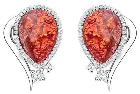 Preciosa Elegáns fülbevaló Ines Matrix Pink 6111 69 ezüst 925/1000
