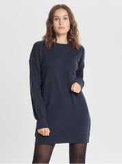 ONLY tmavě modré mikinové šaty s detaily na rukávech Lisa d8de8e76b7