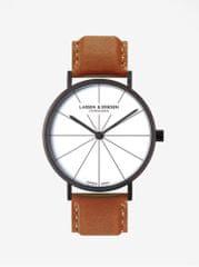 LARSEN & ERIKSEN hodinky s hnědým koženým páskem