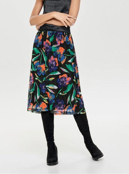 729ed908c91 ONLY černá květovaná sukně Chanell L