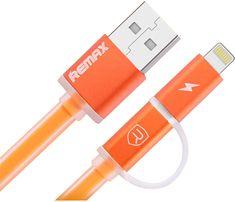 REMAX Datový kabel AURORA microUSB / Lighting AA-1147 - oranžová