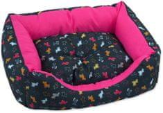 Dog Fantasy Sofa origami kutyapárna rózsaszín-fekete mix