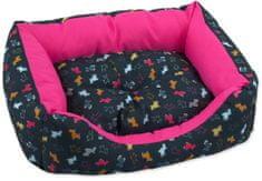 742d81193 Dog Fantasy Sofa origami pes mix čierno-ružová