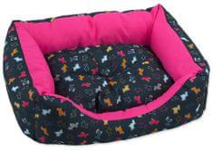 Dog Fantasy Sofa origami pes mix černo-růžová