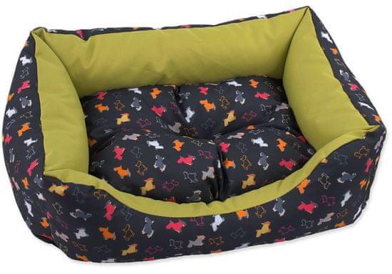 Dog Fantasy Sofa origami pes mix černo-zelená