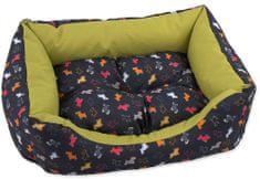 Dog Fantasy Sofa origami pes mix černo-zelená vel. S