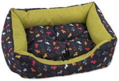 Dog Fantasy Sofa origami pes mix černo-zelená vel. M
