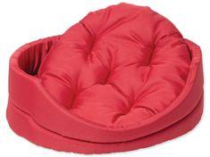 Dog Fantasy Pelech oval s polštářem červený vel. S