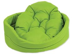 Dog Fantasy Pelech oval s polštářem zelený vel. M