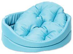 Dog Fantasy Pelech oval s polštářem tyrkysový vel. S