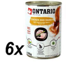 Ontario konzervy Chicken, Rabbit, Salmon Oil 6 x 400 g