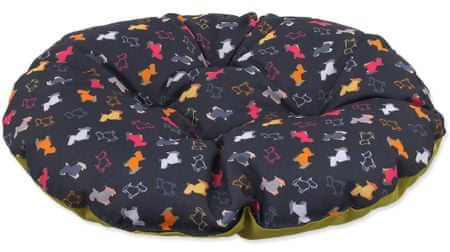 Dog Fantasy Polštář origami pes mix černo-zelený vel. XS