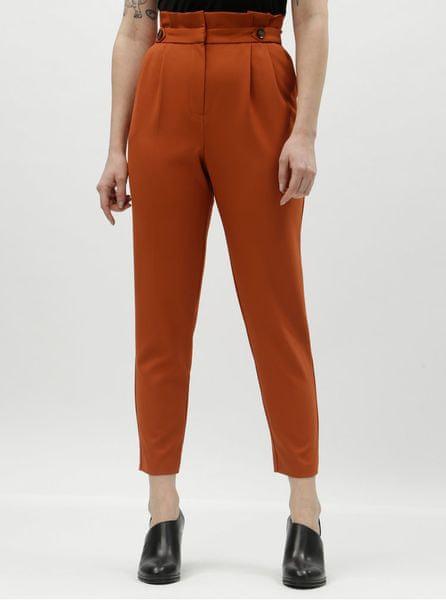 60785e8af1a Miss Selfridge Miss Selfridge oranžové zkrácené kalhoty s vysokým pasem M