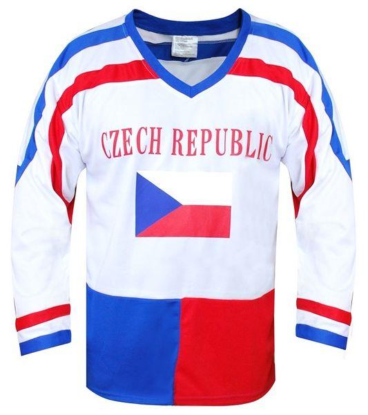 Sportteam Hokejový dres ČR 7 bílý, vel. XL