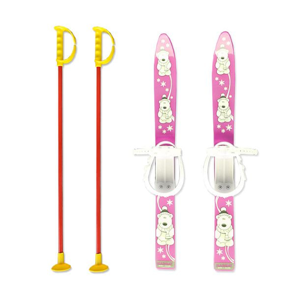 Master Baby Ski 70 cm - dětské plastové lyže - růžové