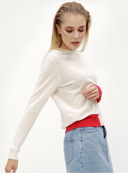 224efc4693d7 Calvin Klein Jeans krémový dámský svetr s příměsí vlny Sheldon L