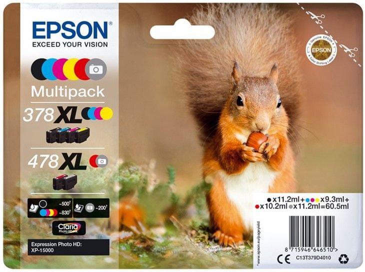 Epson 378 XL + 478 XL, Multipack (C13T379D4010)