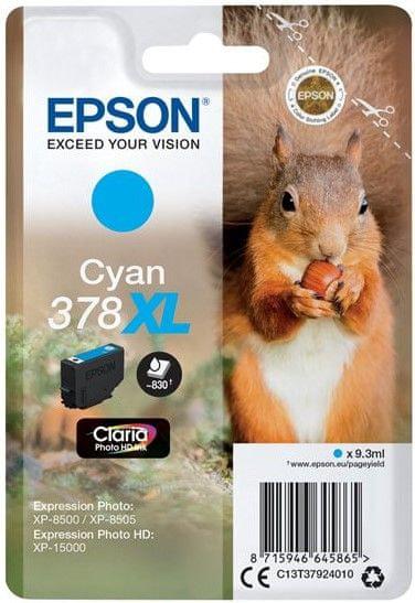 Epson 378 XL, azurová (C13T37924010)