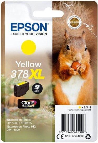Epson 378 XL, žlutá (C13T37944010)