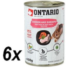 Ontario mokra karma dla kociąt Kitten Chicken,Shrimp,Rice and Salmon Oil - 6 x 400g