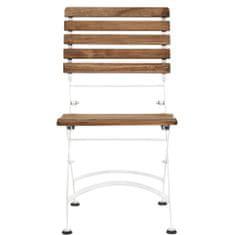 Butlers PARKLIFE Skládací židle - hnědá/bílá