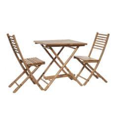 Butlers SAFARI Bambusový set, stůl a 2 židle