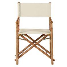 Butlers BOLLYWOOD XXL Režisérská židle - krémová