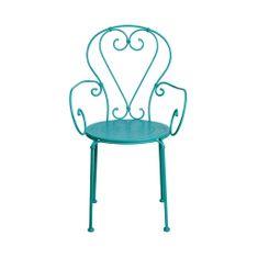 Butlers CENTURY Židle s područkami - petrolejová
