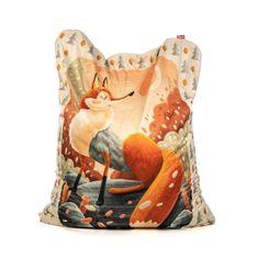 TULI  Sedací vak Sofa polyester vzor líška