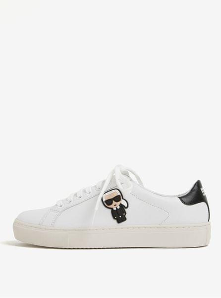 Karl Lagerfeld bílé kožené tenisky s gumovou aplikací Kupsole 40