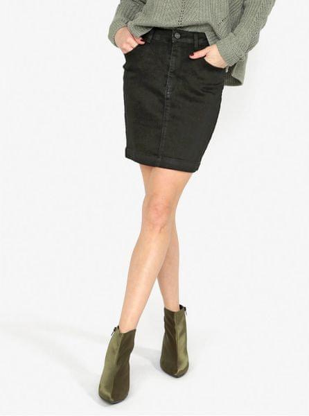 MISSGUIDED černá džínová sukně XXS 0c49595815