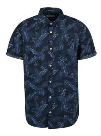 Jack&Jones tmavě modrá vzorovaná košilePaka XL