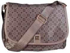 Laura Biagiotti barna keresztpántos táska