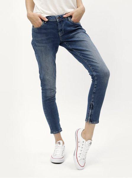 f660232fd59 Pepe Jeans modré dámské zkrácené skinny džíny se zipy na nohavicích Cher L