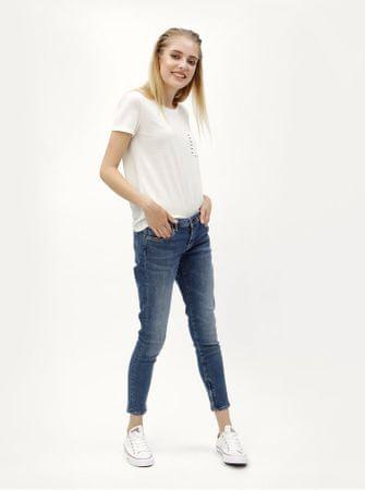ac739acae6d Pepe Jeans modré dámské zkrácené skinny džíny se zipy na nohavicích ...