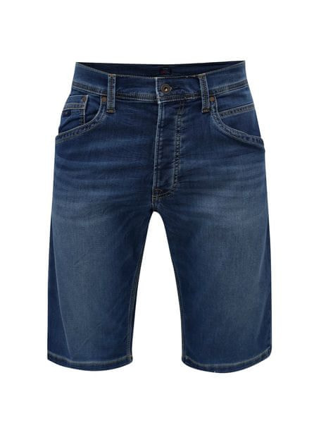 6d5c92e6b8c Pepe Jeans modré pánské džínové regular kraťasy Track short S