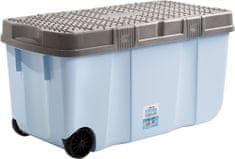 WHAM 15251 Box s vekom a kolieskami 100 l modrý