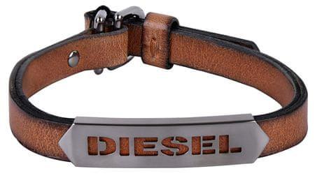 Diesel Męska bransoletka skóra DX1000060