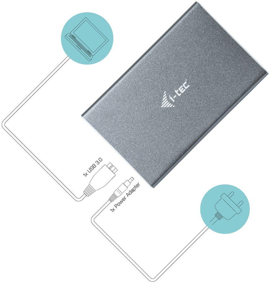 I-TEC MySafe 2.5″ rámeček, USB 3.0 U3MYSAFE025