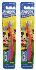 Oral-B KIDS dětský kartáček Stages 2 Mickey 2–4 roky 2 ks