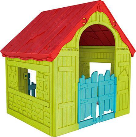 KETER domek do zabaw dla dzieci FOLDABLE PLAYHOUSE - zielony