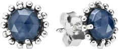 Pandora Stříbrné náušnice s modrými krystaly 290561NBC stříbro 925/1000
