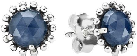 Pandora Stříbrné náušnice s modrými krystaly 290561NBC stříbro 925 ... e56df2ba8b1