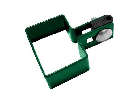 Příchytka na sloupek 60×40 mm koncová, zelená