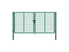 Dvoukřídlá brána SUPER poplastovaná Zn+PVC 4010×1780 mm