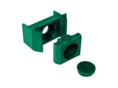 Příchytka PVC pro panely - ST na sloupek 60×40mm, zelená