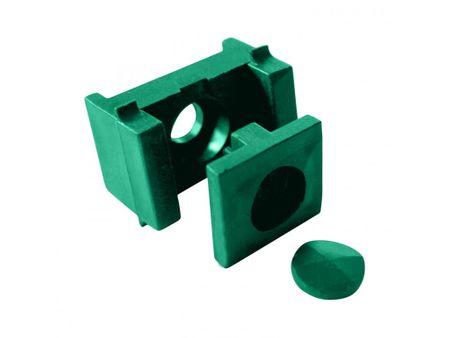 Příchytka PVC pro panely - PRO na sloupek 60×40mm, PVC, zelená