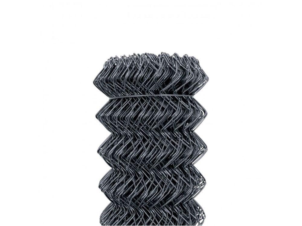 Čtyřhranné pletivo Zn+PVC 50 (kompakt, bez ND) - výška 150 cm, antracit, 25 m