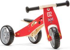 Yookidoo Dřevěné odrážedlo 2v1 mini - Auta